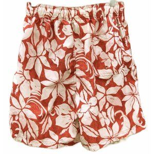 OP Swim Trunk Shorts Red Floral Small